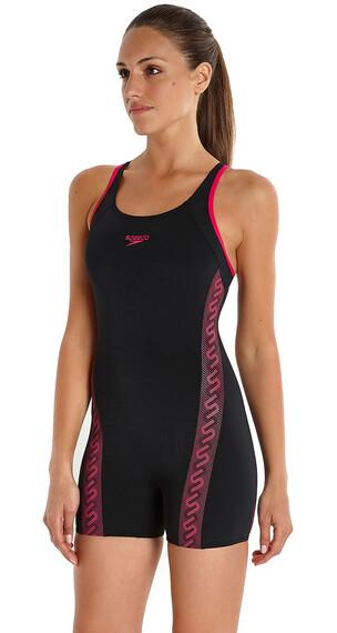 speedo Endurance+ Monogram Legsuit Women black/magenta